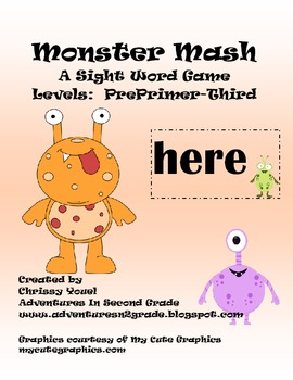 Monster Mash:  A Sight Word Game