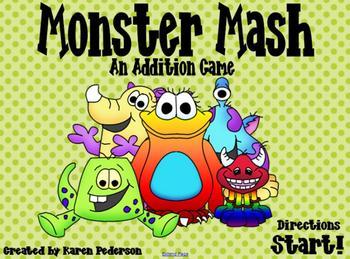 Monster Mash: An Addition Game Smart Notebook