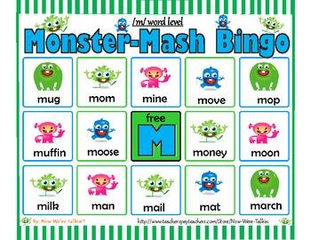 Monster Mash Bingo Articulation Game!