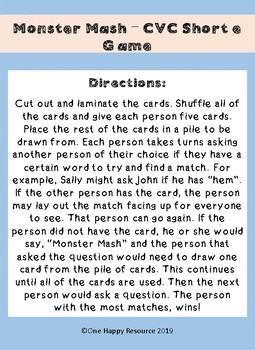 Monster Mash CVC Short e Game
