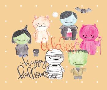 Monster Mash Halloween Clipart--Frankenstein, Witch, Vampire, Werewolf, Mummy