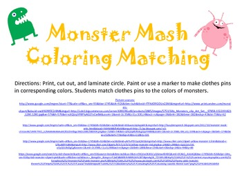Monster Mash Color Matching