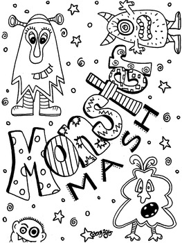 Monster Mash Coloring Page