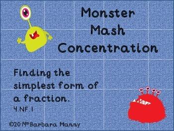 Monster Mash Concentration:  Equivalent Fractions