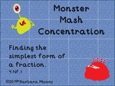 Monster Mash Concentration:  Equivalent Fractions