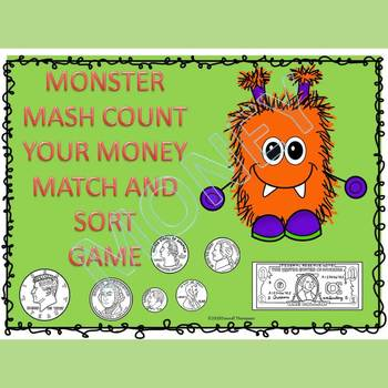 Halloween Math: Count Money (Match and Sort Game)