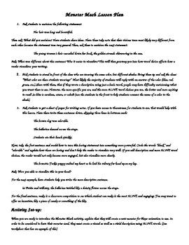 Monster Mash: Descriptive Writing & Vivid Word Choice