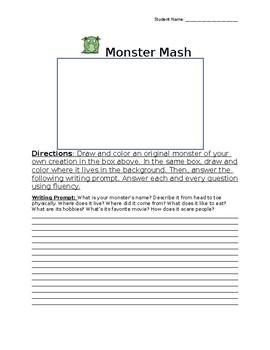 Monster Mash Halloween Worksheet