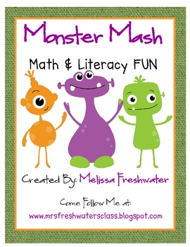 Monster Mash Math and Literacy Fun