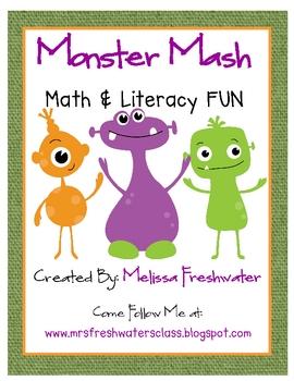 Monster Mash Math and Literacy Fun