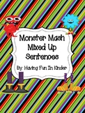Monster Mash Mixed Up Sentences - Differentiated