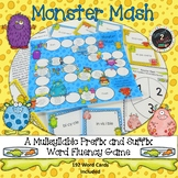 Monster Mash Multisyllabic Game Prefix and Suffix Word Fluency