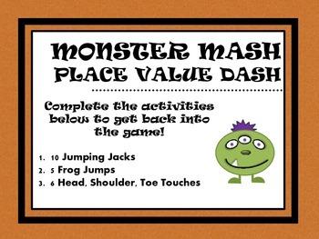 Monster Mash Place Value Dash