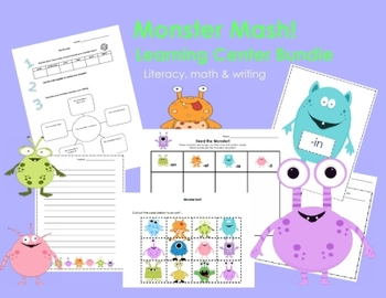 Monster Mash Primary Learning Centers Bundle