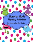 Monster Mash Rhyming Activities - Differentiated
