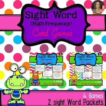Monster Mash Sight Word Games Bundle