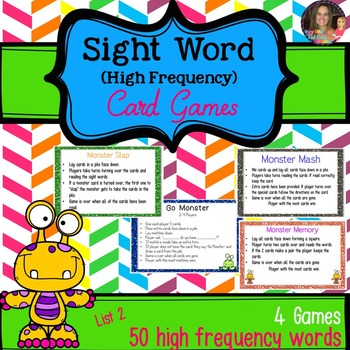 Monster Mash Sight Word Games (High Frequency Words 1-50)