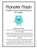 Monster Mash Syllable Juncture Word Study Game