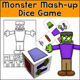 Halloween Activities Monster Mash-Up Dice Game - Math Center
