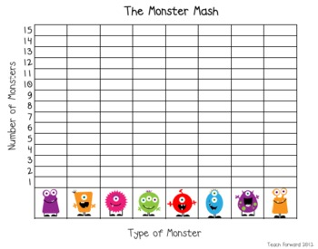 Monster Mash Up Tally and Bar Graph Center