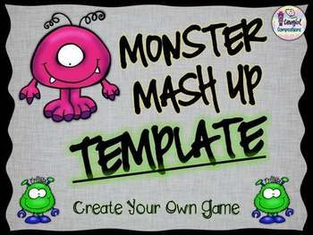 Monster Mash Up Template  - Create Your Own Game