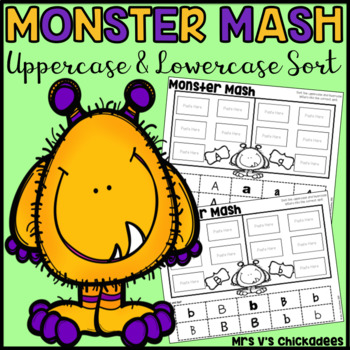 Monster Mash: Uppercase and Lowercase Letter Sorts