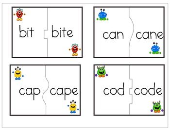 Monster Mash Vowel Digraphs and Contrasts Puzzles