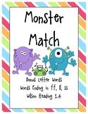 Monster Match: Bonus Letter Words (Words Ending in FF, LL, SS)