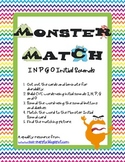 Monster Match Initial Sounds I, N, P, G and O