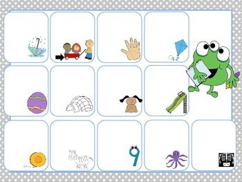 Monster Match- Letter Matching File Folder Games