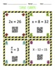 Monster Match One-Step Equations QR Codes