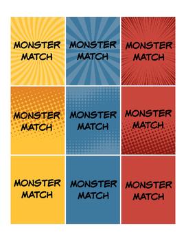 Monster Match Pre-Primer Sight Words
