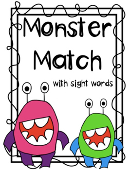 Monster Match Sight Word FREEBIE (Bingo)