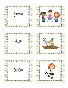 Monster Match Up - A Plural -s and Inflected -s Word Matching Game