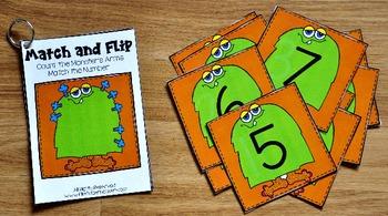 Monster Matching Activities:  Monster Match and Flip Books