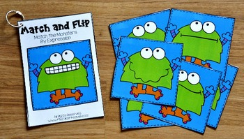 Monster Matching Activities:  Monster Match and Flip Books