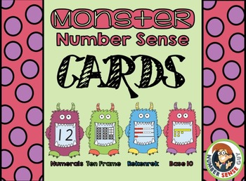 Monster Matching Cards