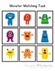 Monster Matching Folder Game for students with Autism