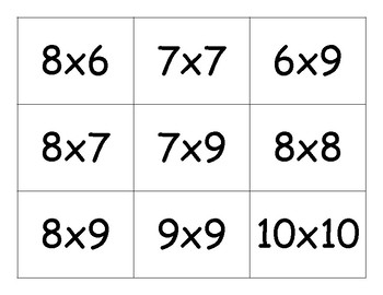 Monster Matching - Multiplication Game