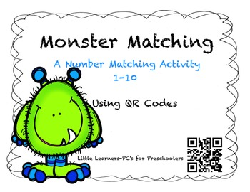 Monster Matching~Number Words Matching Activity using QR Codes