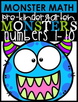 MONSTER MATH |NUMBERS 1-10
