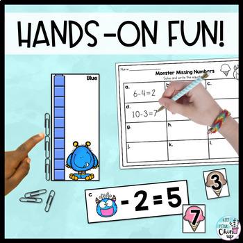 Monster Math 1st Grade Centers & Games