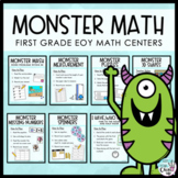 Monster Math 1st Grade Centers & Games