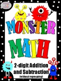 Monster Math - 2 Digit Addition and Subtraction