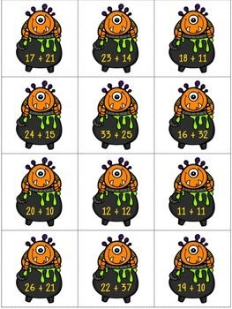 Monster Math: 2-digit Addition without Regrouping