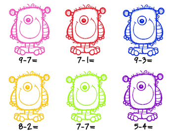 Monster Math addition & subtraction
