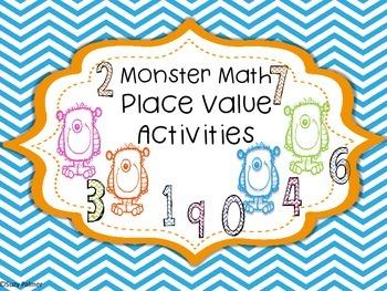 Monster Math {2nd grade CCSS}: Place Value Activities