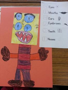 Halloween or Monster Math Activity