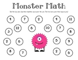 Monster Math Addition Center Game