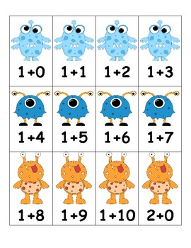 Monster Math Addition Facts Race